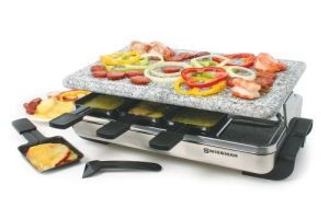Swissmar 8-Person Stelvio Raclette Party Grill with Granite Stone