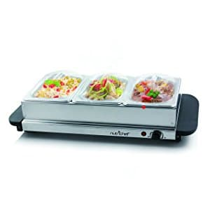 NutriChef Food Warmer Buffet Server Warming Tray