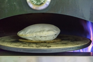 Pita in the Pizza Oven